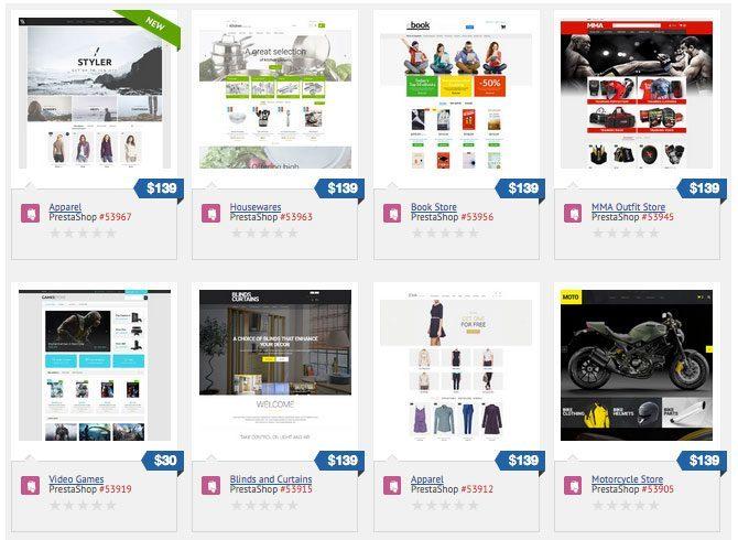 Grafične predloge za spletne trgovine